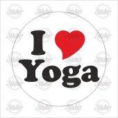 ı Love Yoga Sticker 20063