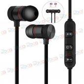 Sporcu Kulaklık Bluetooth Kablosuz Mikrofon Mıknat...
