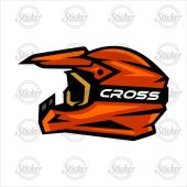Cross Kask Sticker 14080