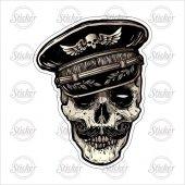 şapkalı Kurukafa Sticker 13016