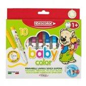 Fibracolor Baby Color Keçeli Kalem 10 Renk +1 Yaş Tan İtibaren Ku