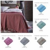 Lale Home Luxury Throw %85 Pamuk %15 Polyester Battaniye