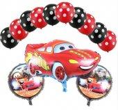 Arabalar Şimşek Mcqueen Balon Seti Arabalar Doğum Günü Balon Set
