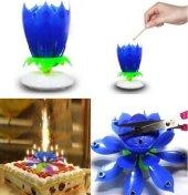 Mavi Işıklı Sesli Doğum Günü Pasta Mumu