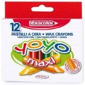 Fibracolor Yoyo Maxi Pastel Mum Boya 12 Renk
