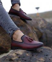 Lfg Bordo Renk Püskül Detaylı Günlük Ayakkabı