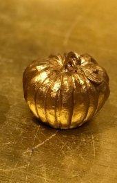 Dekoratif Küçük Bal Kabağı 9x6 (Gold)