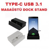 Type C Usb 3.1 Uyumlu Masaüstü Şarj Aleti Dock Stand