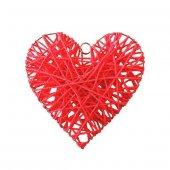 Hasır İp Sarkıt Kalp Şekilli Kapı Süsü Kapı Askı Süs Hediye
