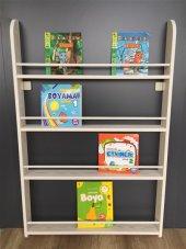 çocuk Odası Dekor Ahşap Soft Montessori Kitaplık E...