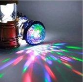 Led Işıklı Disco Lambası Kamp Feneri 2 Ürün Bir Arada Renkli Led