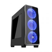Frısby Mid Tower 650w Gaming Fc 9235g Atx Pc Kasası Pencereli Siy