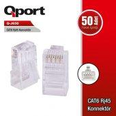 Qport Cat6 Utp Q J650 Rj45 50li Paket Plastik Konnektör