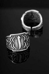 çelik Arapça Elif Harfli Ayarlamalı Erkek Yüzük