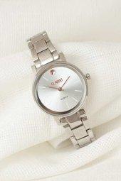 Silver Renk Metal Kordonlu Silver Renk İç Tasarımlı Yeni Sezon Clariss Marka Bayan Kol Saati