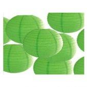 Dekoratif Çin Feneri Kağıt Lamba Yeşil