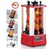 Elektrikli Şaşlık Kebap Makinesi Kendi Buharıyla Pişiren Fanuslu