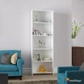 Modilayn 5 Raflı Kitaplık Kütüphane Beyaz Ard204...