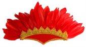 Tüylü Parti Başlığı Kırmızı Renk
