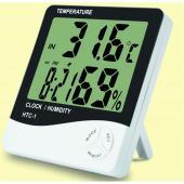 Nem Ve Sıcaklık Ölçüm Cihazı Sıcaklık Nem Ölçer Alarmlı Masasaati