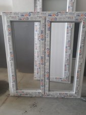 120x120 Tek Cam Çift Kanat Orpen Pencere