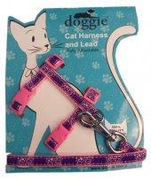 Doggie Gülücük Kedi Göğüs Tasması 22 36 Cm Pembe...