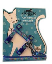 Doggie Patili Kedi Göğüs Tasması 22 36 Cm Mavi...