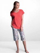 Pierre Cardin Bayan Nar Çiçeği Kaprili Pijama Takımı 7558