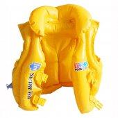 58660 Yakalı Sarı Yelek 50x47cm
