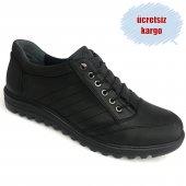 Hidayet Siyah Lastik Bağcıklı Günlük Erkek Ayakkabı