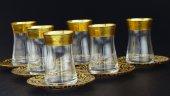 Fantasia Sibel, Altın Varaklı 6 Kişilik Çay Bardak...