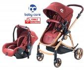 Baby Care Prestij Gold Travel Sistem Bebek Arabası Bordo Bc 655