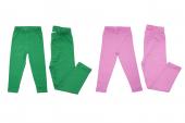 Fun Girl 2li Kapri Tayt Koyu Yeşil Pembe 3 Yaş