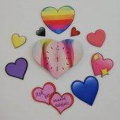 Tasarım Duvar Saati (Aşkın Saati)