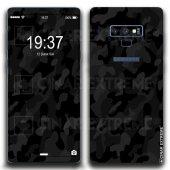 Samsung Siyah Kamuflaj Koruyucu Telefon Kaplamaları Çınar Extreme