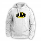 Batman Logo Beyaz Sweatshırt