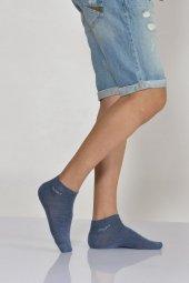 Düz Sport Erkek Patik Çorabı Mavi E Art234