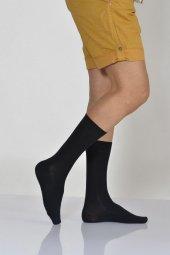 Lüx Bambu Düz Tek Renk Erkek Soket Çorabı Lacivert E Art217