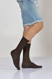 ıdilfashion Erkek Düz Tek Renk Modal Soket Çorabı Kahverengi
