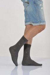 Mıkro Motifli Erkek Soket Çorabı Koyu Gri E Art226