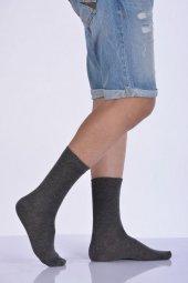 Likralı Penye Erkek Soket Çorabı Koyu Gri E Art226