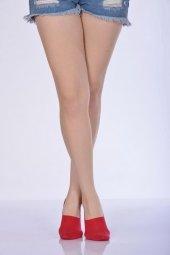 ıdilfashion Kadın Babet Çorabı Kırmızı B Art048