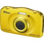 Nikon W100 Suya Dayanıklı Dijital Fotoğraf Makinesi (Sarı)