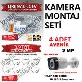 Avantajlı Güvenlik Seti 4 Kamera Kablo Bnc Seti Faturalı