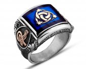 925 Ayar Gümüş Mineli Teşkilat I Mahsusa Yüzüğü...