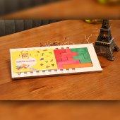 Renkli Ahşap Geometrik Akıl Zeka Oyunu