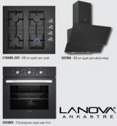 Lanova Siyah Cam Ankastre Set (2103 Frn+203 Oc+307...
