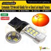 Carmaniaks T20 Canbus 21 Ledli Gündüz Farı Ve Sinyal Led Ampulü Turuncu 12 24v