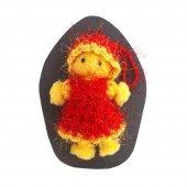 Chisenti El Yapımı Orlon Sarı Kırmızı Mini Dekoratif Bebek