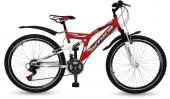 Arnica 2405d 24 Jant 21 Vites Çift Amortisörlü Bisiklet (Kırmızı)